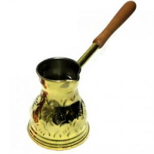 Traditional handmade brass coffee pot (ibrik)