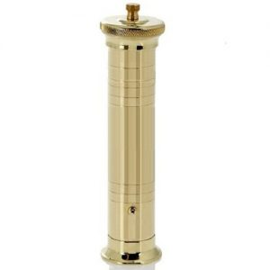 Brass pepper mill with rotating top Alexander No 500