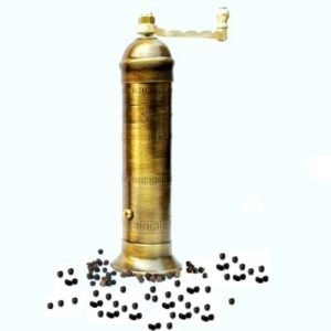 Vintage look brass pepper mill Alexander No 503